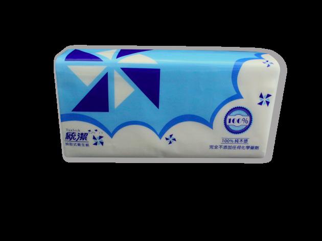 統潔紙風車版抽取式衛生紙100抽 2
