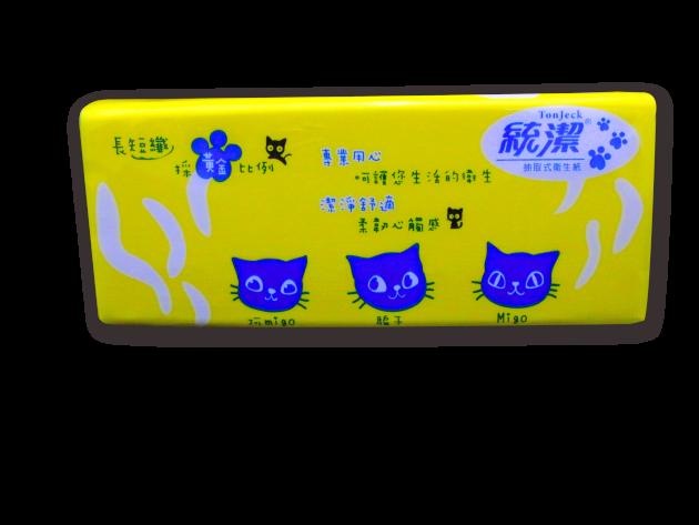 統潔黃藍版抽取式衛生紙100抽 2